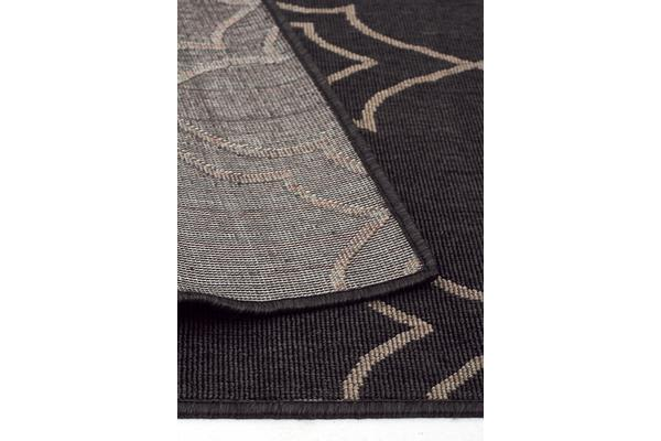 Casablanca Charcoal Outdoor Rug 160X110cm