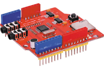 MP3 Audio Shield With Micro SD Card SPI interface, the control signal lines are led out