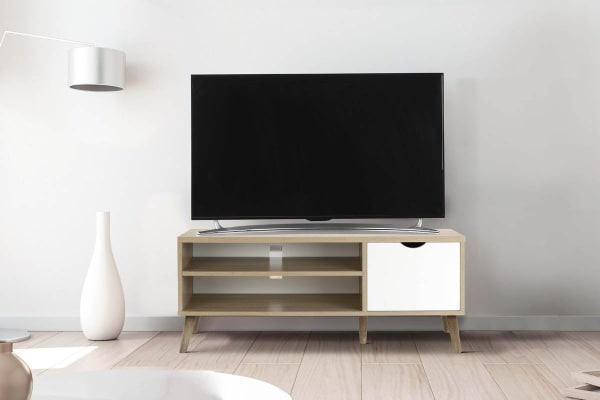 Shangri-La TV Entertainment Unit - Nyhavn Collection (120cm, White & Oak)