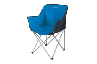 EuroTrail Kampala Foldable Camping Chair (Azure/Black) (One Size)