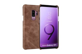 For Samsung Galaxy S9+ PLUS Case Elegant Genuine Protective Leather Cover Coffee