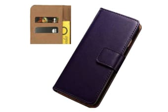 For iPhone 5C Wallet Case Stylish Slim High-Quality Leather Cover Purple