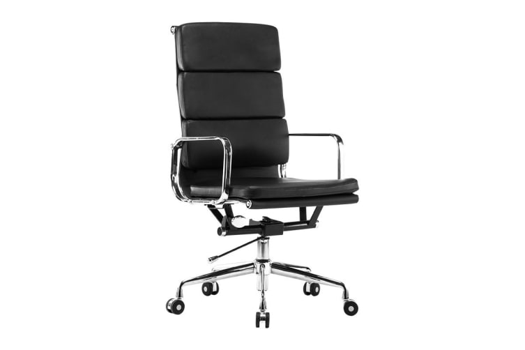 Ergolux Eames Replica High Back Padded Office Chair - Executive Collection (Black)