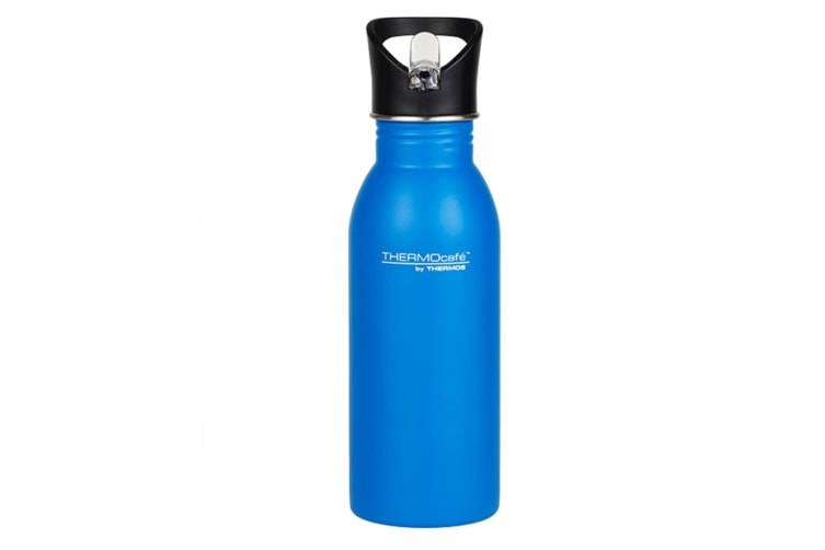 Thermos Thermocafe Stainless Steel Single Wall Hydration Bottle 500ml - Blue