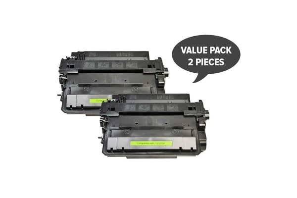 CE255X #55X Black Compatible Laser Toner (Two Pack)