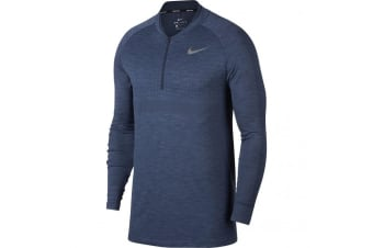 Nike Mens Seamless Knit Zip Long Sleeve Cover Top (Wolf Grey/Black) (L)