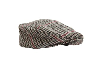 Mens Tweed Wool Blend Flat Cap (Design 4)