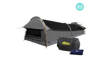 King Single Camping Swag Tent with Air Pillow (Grey)