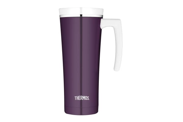 Thermos 470 ml Sipp Stainless Steel Vacuum Insulated Travel Mug (Plum)