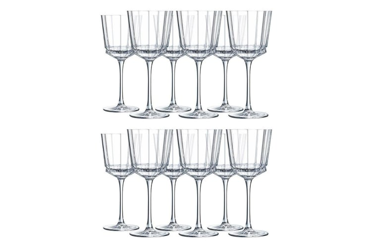 12PK Cristal D'Arques Macassar 350ml Red White Wine Glass Glasses Bar Tableware