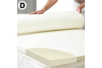Laura Hill High Density Mattress foam Topper 7cm - Double