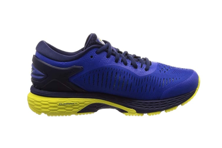 ASICS Men's Gel-Kayano 25 Running Shoe (Blue/Lemon Spark, Size 7.5)