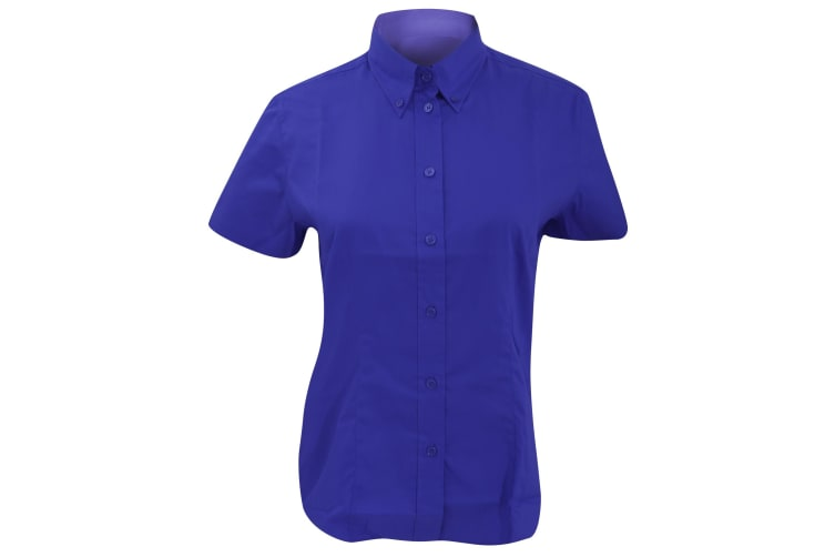 Kustom Kit Ladies Corporate Oxford Short Sleeve Shirt (Royal Blue) (16)