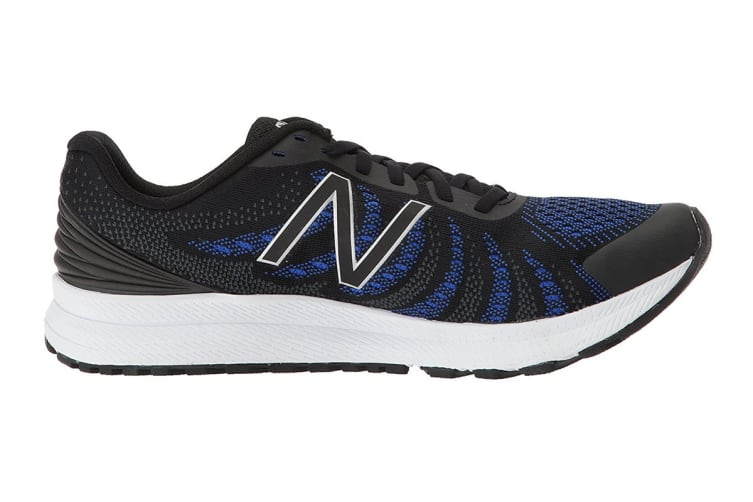 New Balance Women's FuelCore Rush v3 - D Running Shoe (Black/Blue Iris, Size 7)