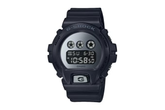 Casio G-Shock Digital Metallic Mirror Face Watch with Resin Band - Black (DW6900MMA-1D)