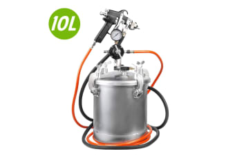 10Lt Pressure Pot with Spray Gun Paint Tank