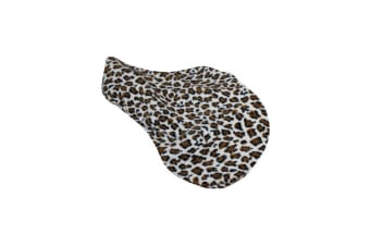 Spartan Leopard Fleece Saddle Cover (Brown) (Pony)