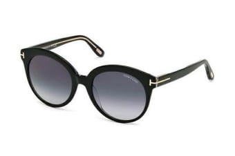 Tom Ford FT0429 - Black Crystal (Blue Shaded lens) Womens Sunglasses