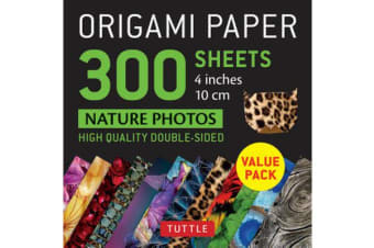 Origami Paper 300 sheets Nature Photo Patterns 4 inch (10 cm)