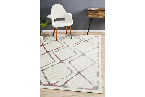 Felicia Pink & Ivory Soft Abstract Rug 230x160cm