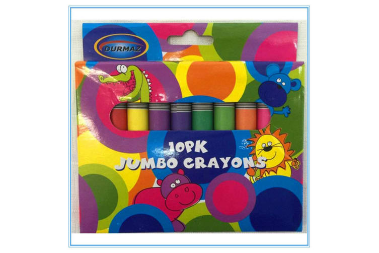 50 X JUMBO SIZE EXTRA THICK CRAYON CRAYONS ASSORTED COLORS KID CRAFT GIFT DRAW D