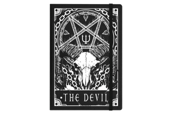 Deadly Tarot The Devil A5 Hard Cover Notebook (Black)