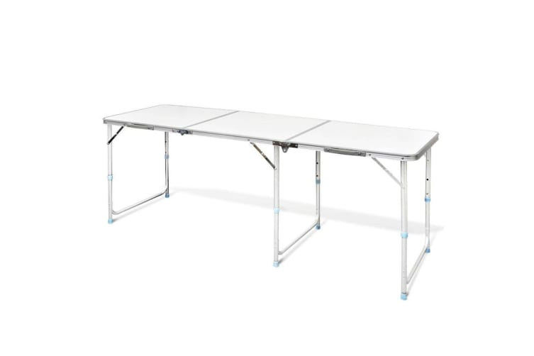 ALUMINIUM FOLDING PORTABLE GARDEN CAMPING PICNIC BBQ TABLE HEIGHT ADJUSTABLE