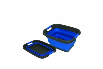 Large Collapsible Bowl (Blue) (One Size)