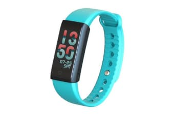 "TODO Bluetooth V4.0 Fitness Band Watch Heart Rate Spo2 Blood Pressure Ip67 0.96"" Oled - Blue"