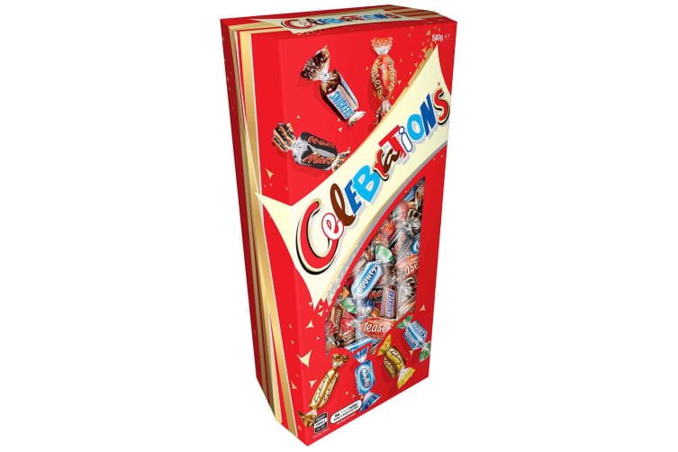 2PK Celebrations 540g Assorted Milk Chocolates/Confectionery/Sweets Gift Box