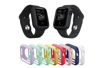 For Apple Watch Series 5 4 3 2 1 38/42/40/44mm TPU Bumper Protective Cover Case-Purple