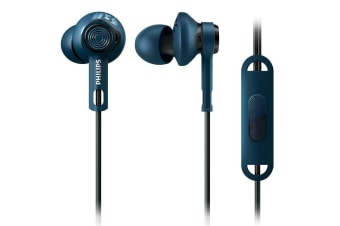 Philips SHQ2405BL Action Fit Sports Earphones/Headphones/Headset w/ Mic Control