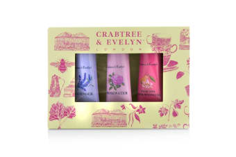 Crabtree & Evelyn Florals Hand Therapy Set (1x Pear & Pink Magnolia  1x Rosewater  1x Lavender) 3x25g/0.9oz