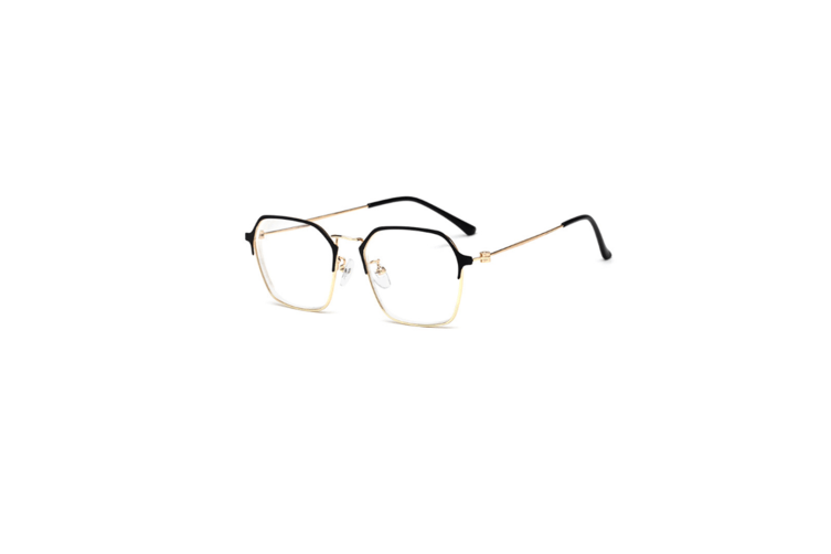 Myopia Optical Glasses Frame Eyeglasses Spectacles - Gold Black Degree of 200