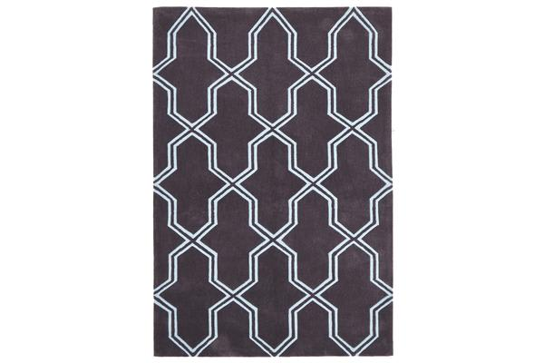 Neo Lattice Design Rug Smoke 225x155cm