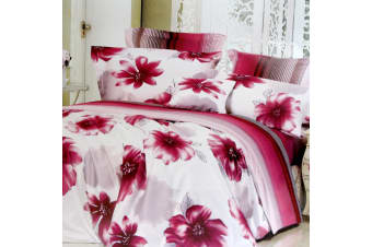 250TC Cotton Sateen Honolulu Reversible Quilt Cover Set Queen by Phase 2
