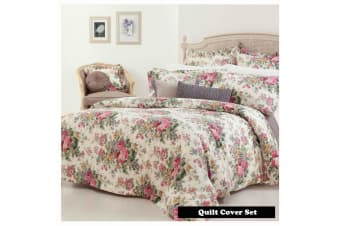 ROSEWOOD Quilt Cover Set DOUBLE