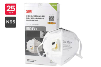 3M N95 9501V+ Particulate Respirator Mask with Valve (25 Pack)