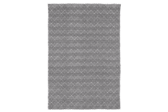 Villa Modern Diamond Rug Black 220x150cm