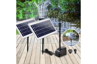 110W Water Solar Pond Pump Kit Outdoor Submersible Fountain Filter