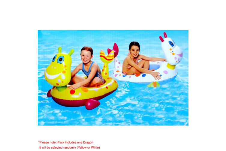 1pc Inflatable Toddler Kids Float Floating Dragon Seat Swimming Pool Outdoor Toy