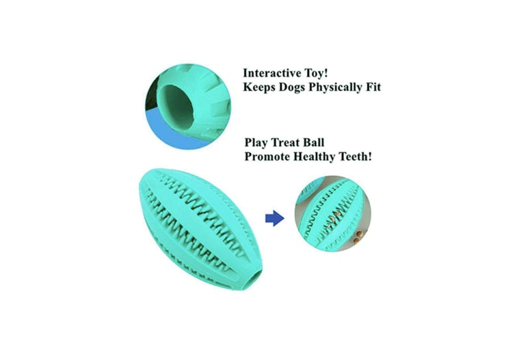 Nontoxic Bite Resistant Rubber Dog Tooth Chew Cleaning Iq Training Ball Orange
