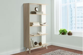 Shangri-La Book Shelf - Nyhavn Collection (White & Oak)