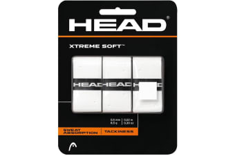 3PK Head XtremeSoft Overgrip Tennis/Squash Racket/Racquet Handle Grip Tape/White