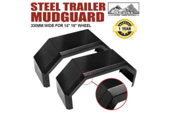 "SAN HIMA Trailer Steel Mudguards 13"" Wide Boat Trailer Guards For 14"" 16"" Wheel 4 Fold"