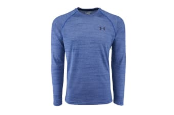 Under Armour Men's Performance L/S Loose Fit Tech Tee (True Blue Spacedye, Size M)