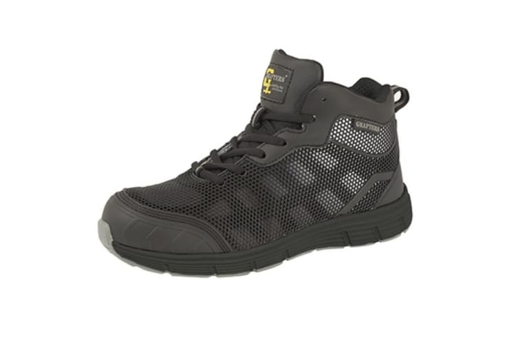 Grafters Mens Safety Trainer Boots (Black/Grey) (7 UK)