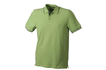 James and Nicholson Unisex Campus Polo (Grass Green/Navy) (XL)