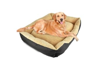 Deluxe Soft Washable Dog Cat Pet Warm Basket Bed BROWN XXL