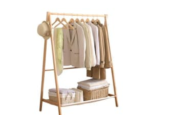 Wooden Clothes Stand Rack in Natural Color